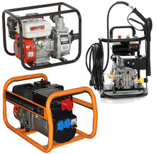Petrol generators, water pumps