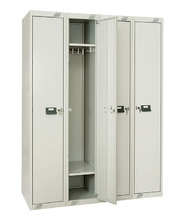 Changing room cabinets