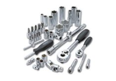 Ratchets, extension bars, universal joints, adaptors, sliding tee bars, spinner handles, flexible handles, socket rails