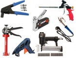 Soldering tools: staple guns, riveters, foam guns, caulking guns, glow guns and etc.