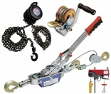 Hand pullers, winches, chain blocks,